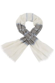 Mud Pie Shimmer Striped Scarf - Front cropped