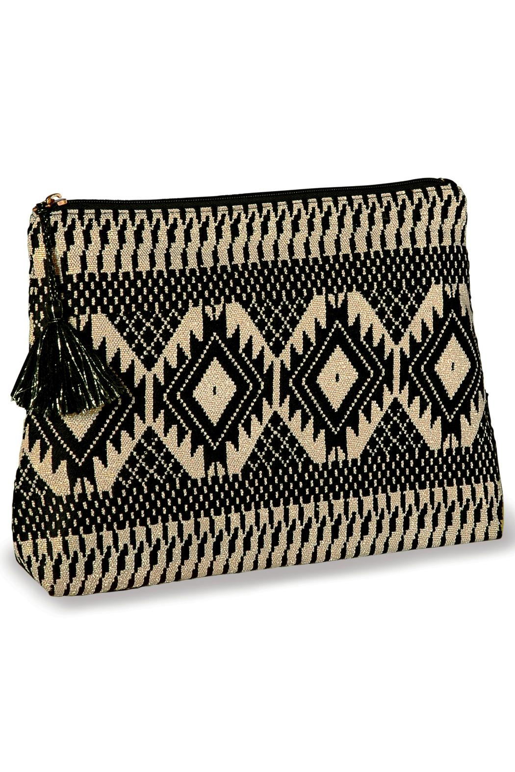 Mud Pie Shimmery Jacquard Clutch - Front Full Image