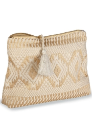 Mud Pie Shimmery Jacquard Clutch - Front cropped