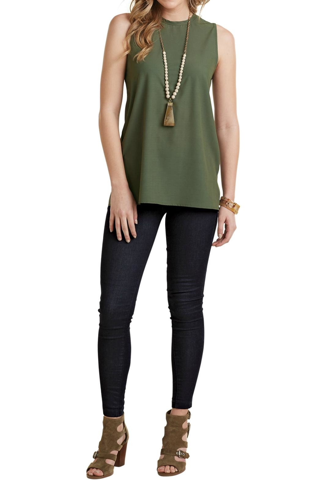Mud Pie Sleeveless Layering Tank Top - Front Cropped Image