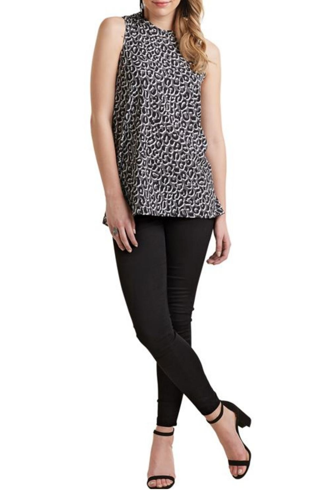 Mud Pie Sleeveless Leopard Top - Front Cropped Image