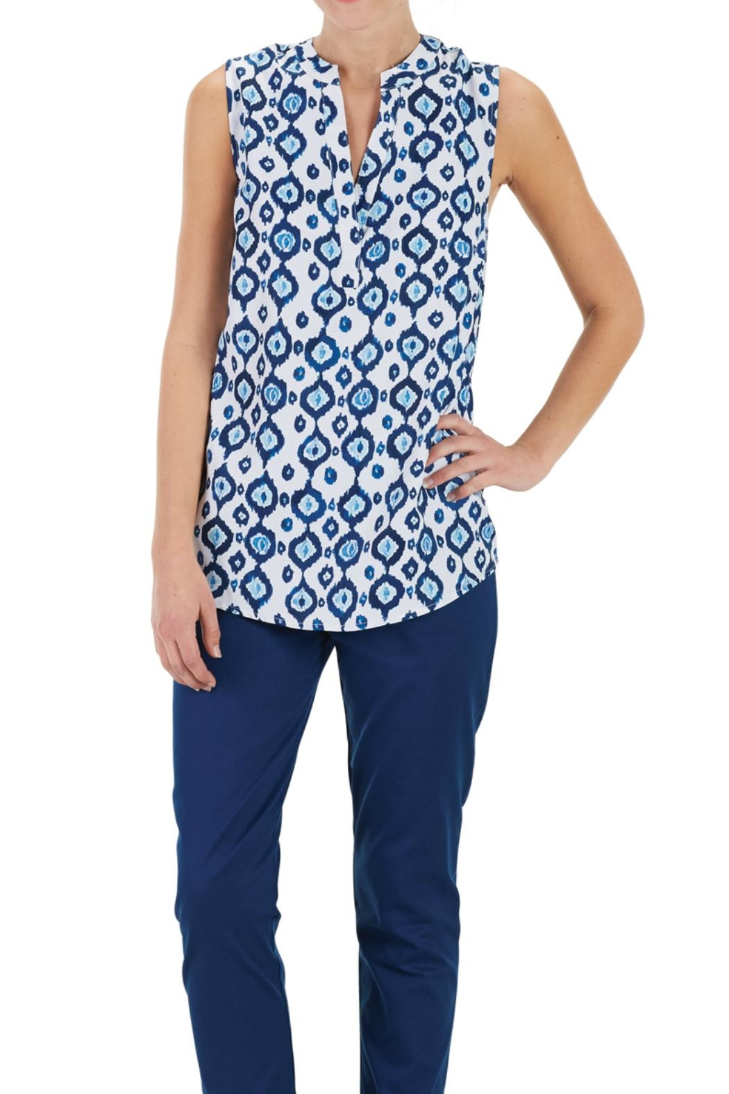Mud Pie Sleeveless Tunic Top - Front Cropped Image