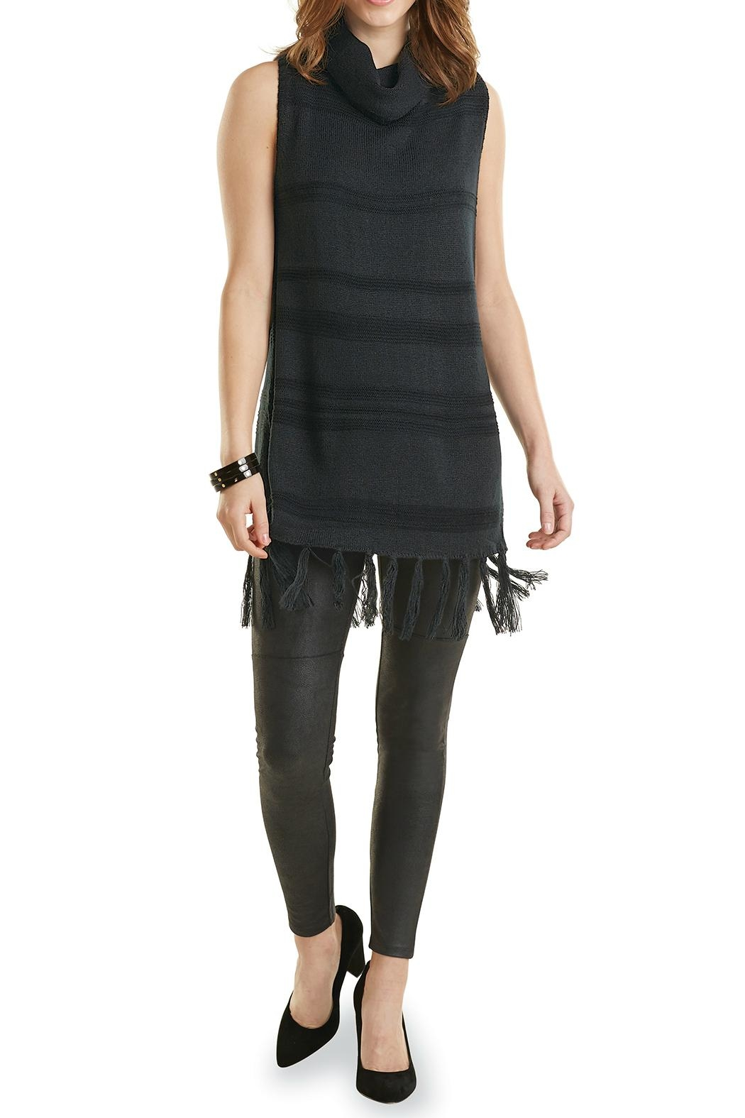 Mud Pie Sleeveless Turtle Neck Sweater - Front Cropped Image