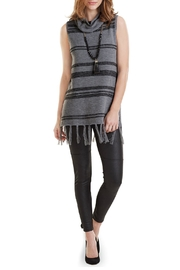 Mud Pie Sleeveless Turtle Neck Sweater - Front cropped