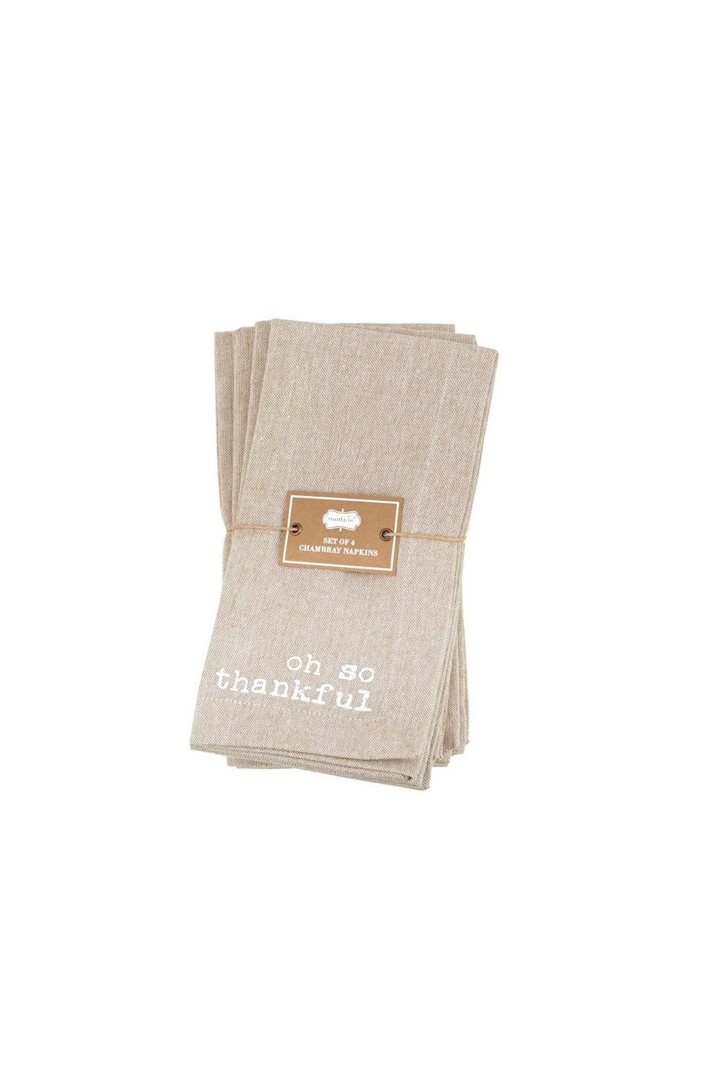 Mud Pie So Thankful Napkins - Front Full Image