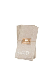 Mud Pie So Thankful Napkins - Front full body