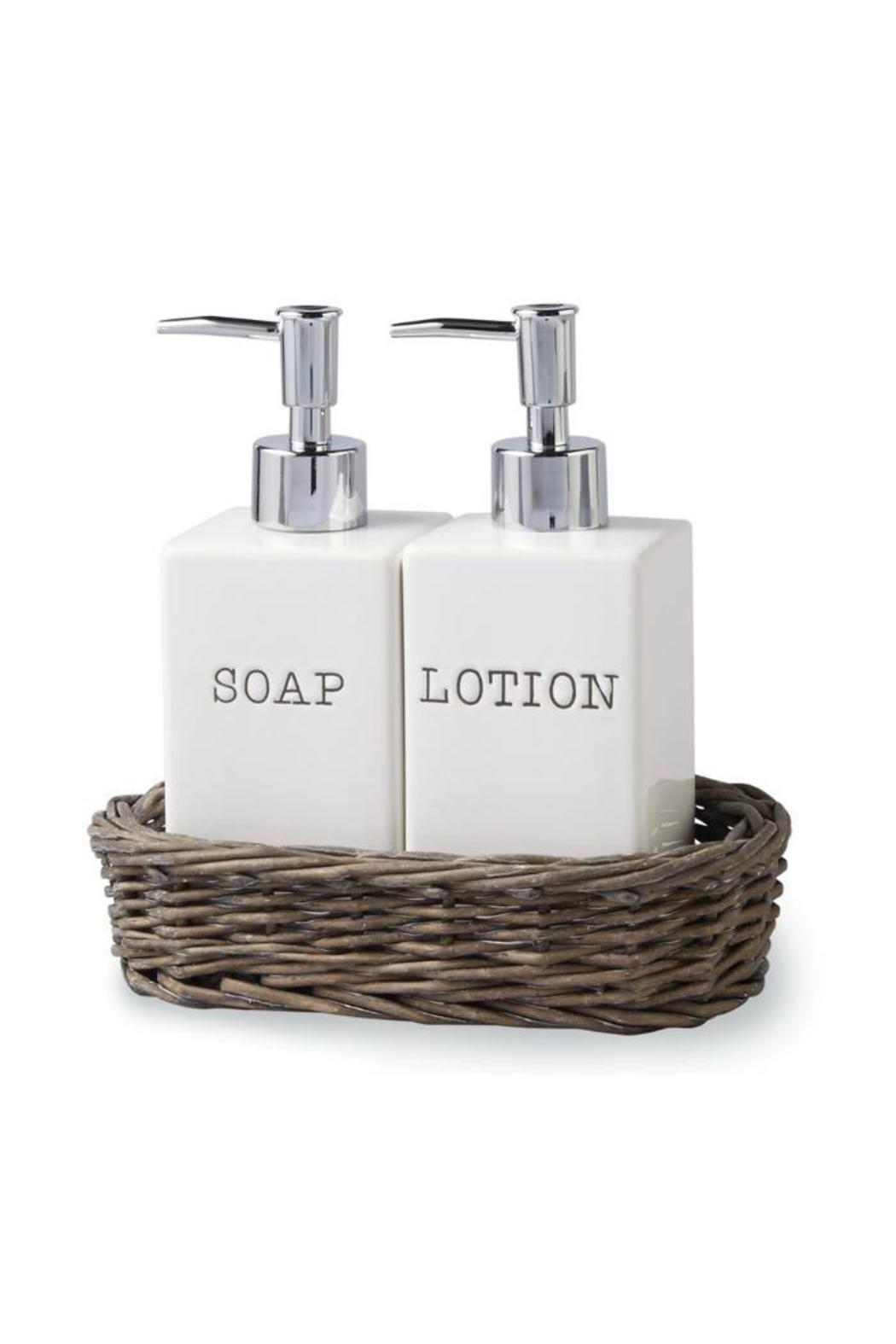Mud Pie Soap Lotion Caddy Front Cropped Image
