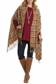 Mud Pie Ava Plaid Wrap - Front cropped