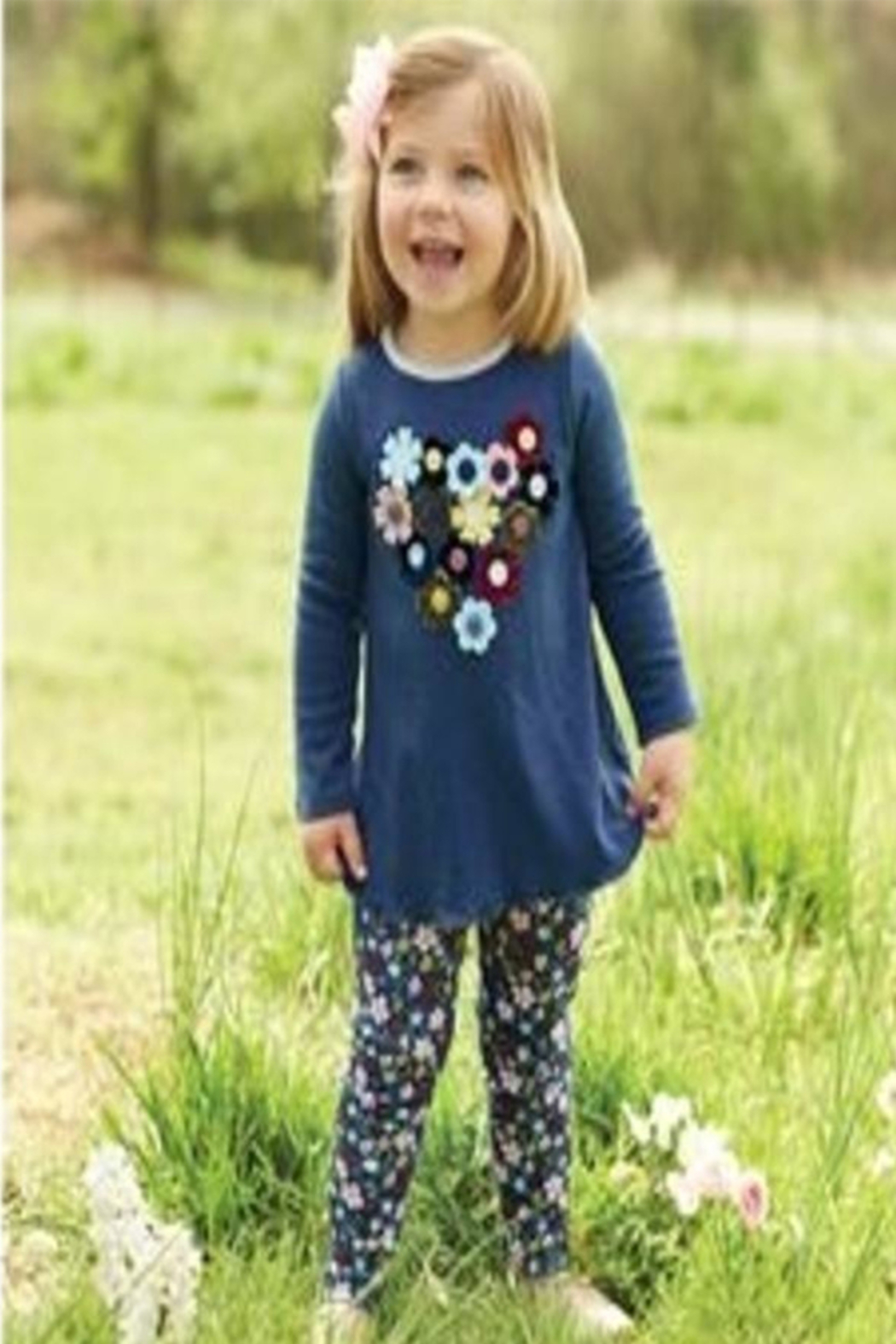 Mud Pie Spring Floral Tunic - Front Cropped Image