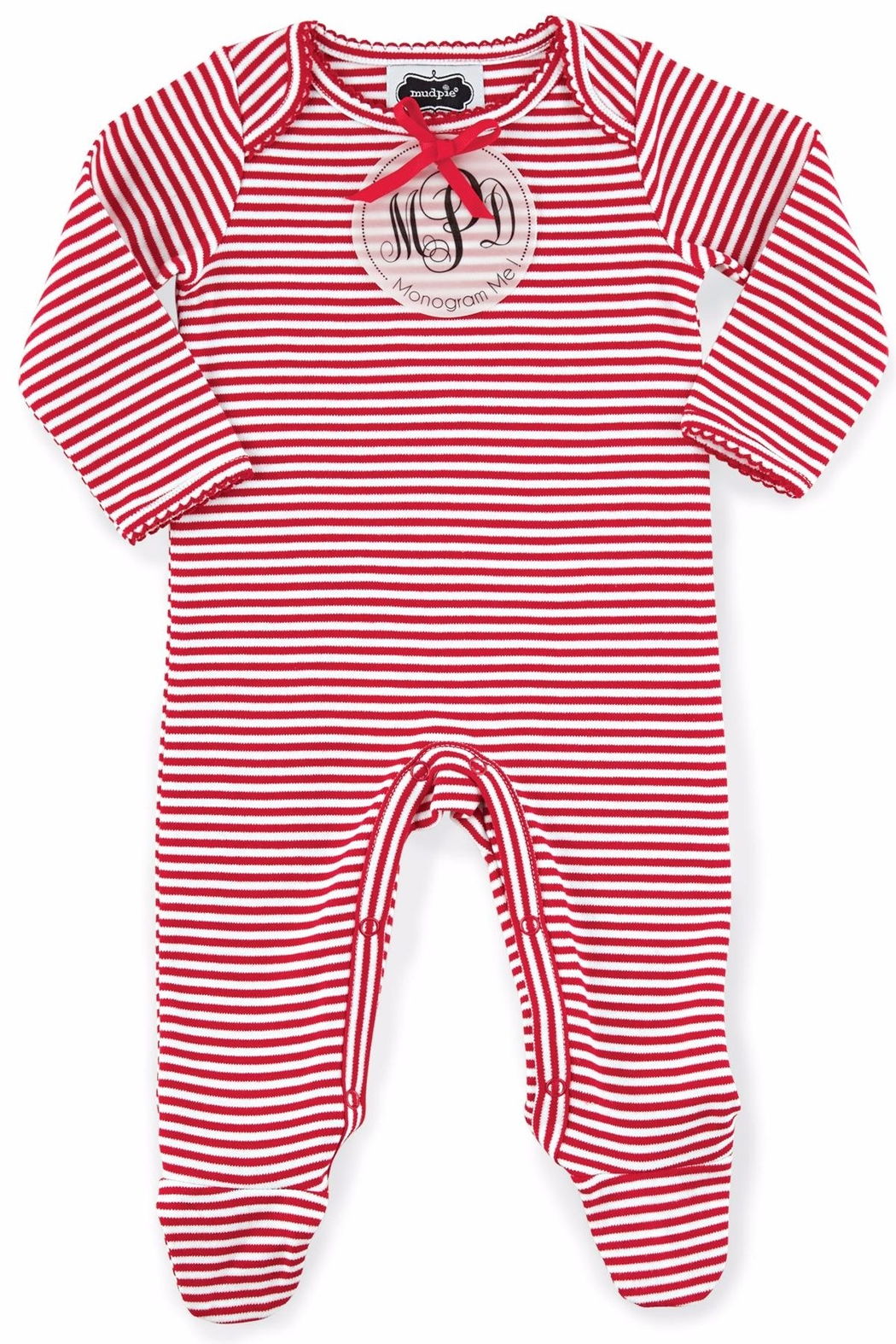 Mud Pie Stripe Sleeper - Front Cropped Image