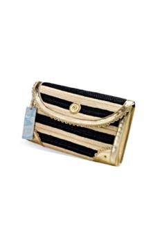 Shoptiques Product: Striped Straw Clutch