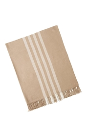 Mud Pie Striped Throw - Front cropped