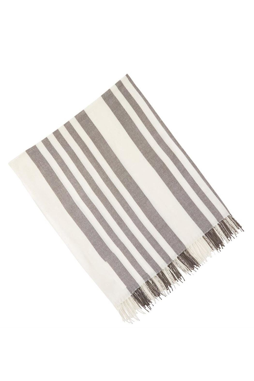 Mud Pie Striped Throw - Front Cropped Image