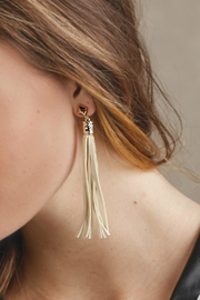 Mud Pie Suede Tassel Earrings - Product Mini Image