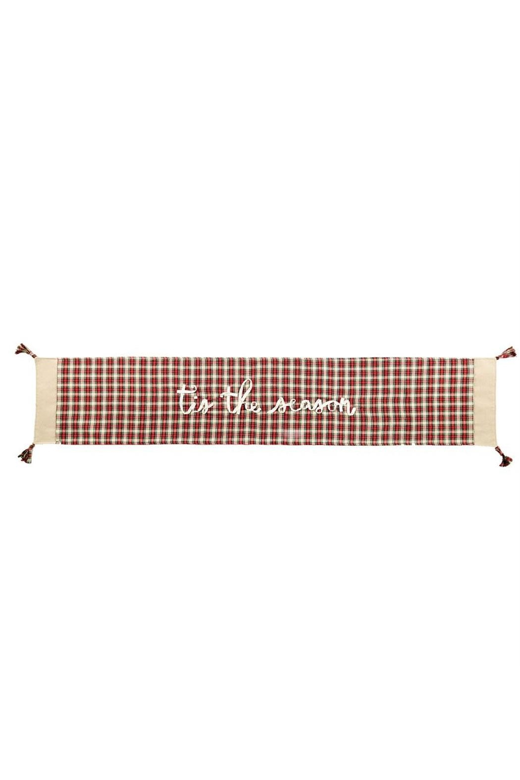 Mud Pie Tartan Table Runner - Front Cropped Image