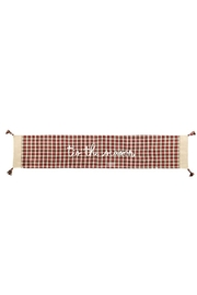 Mud Pie Tartan Table Runner - Front cropped