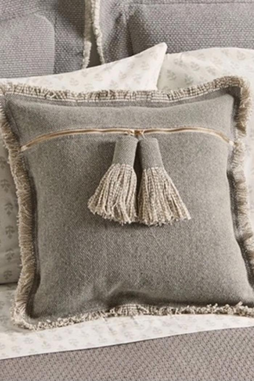 Mud Pie Tassel Throw Pillow - Front Cropped Image