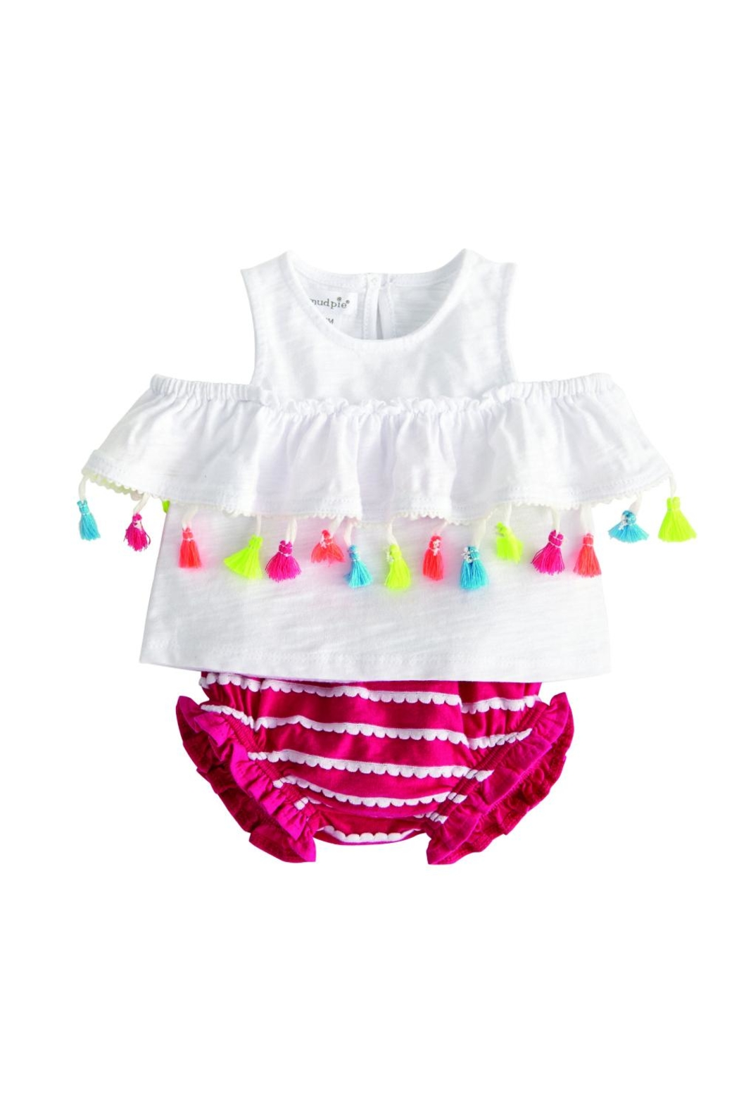 Mud Pie Tassel Two Piece - Front Cropped Image
