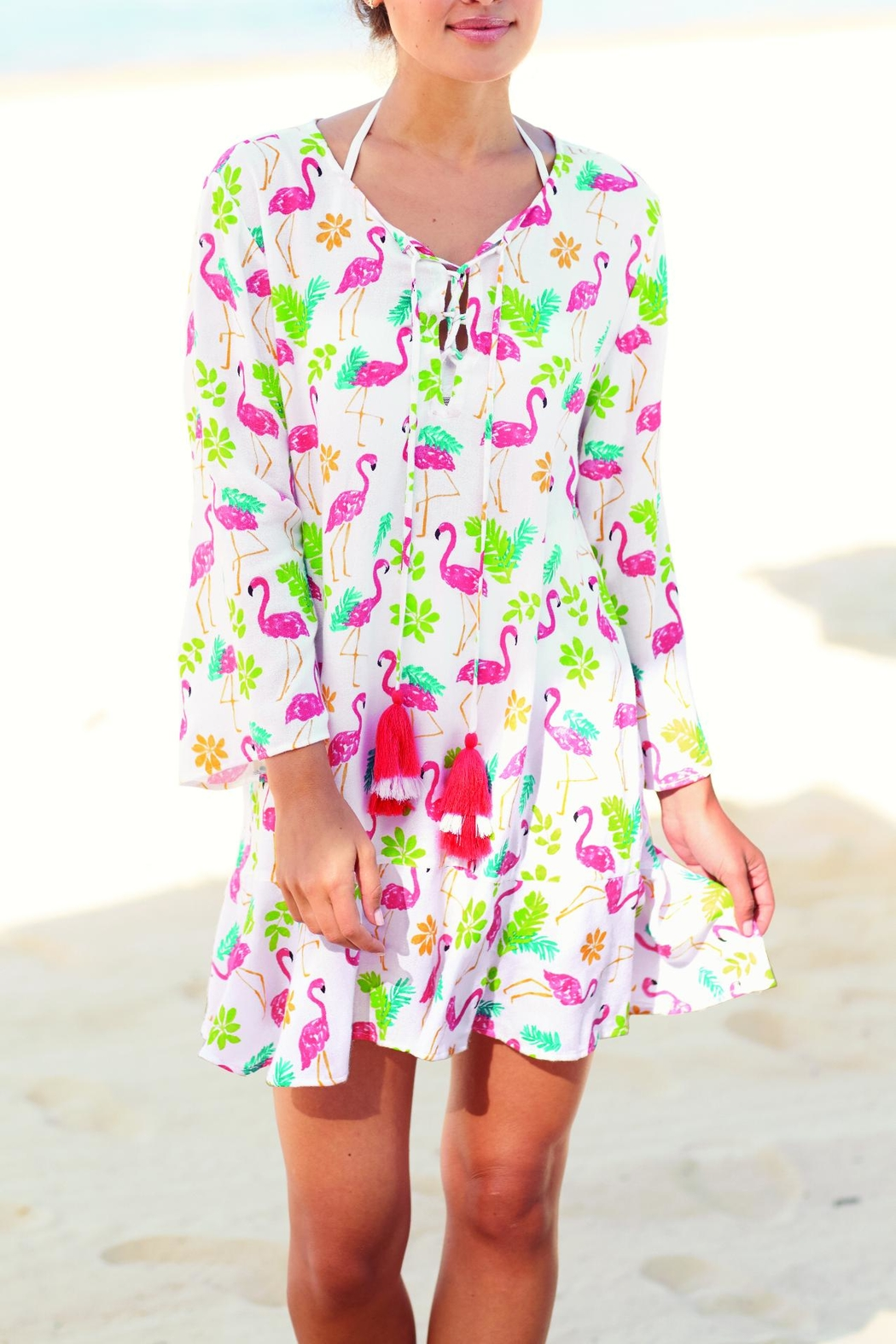 Mud Pie Tenley Tassel Cover-Up - Front Full Image
