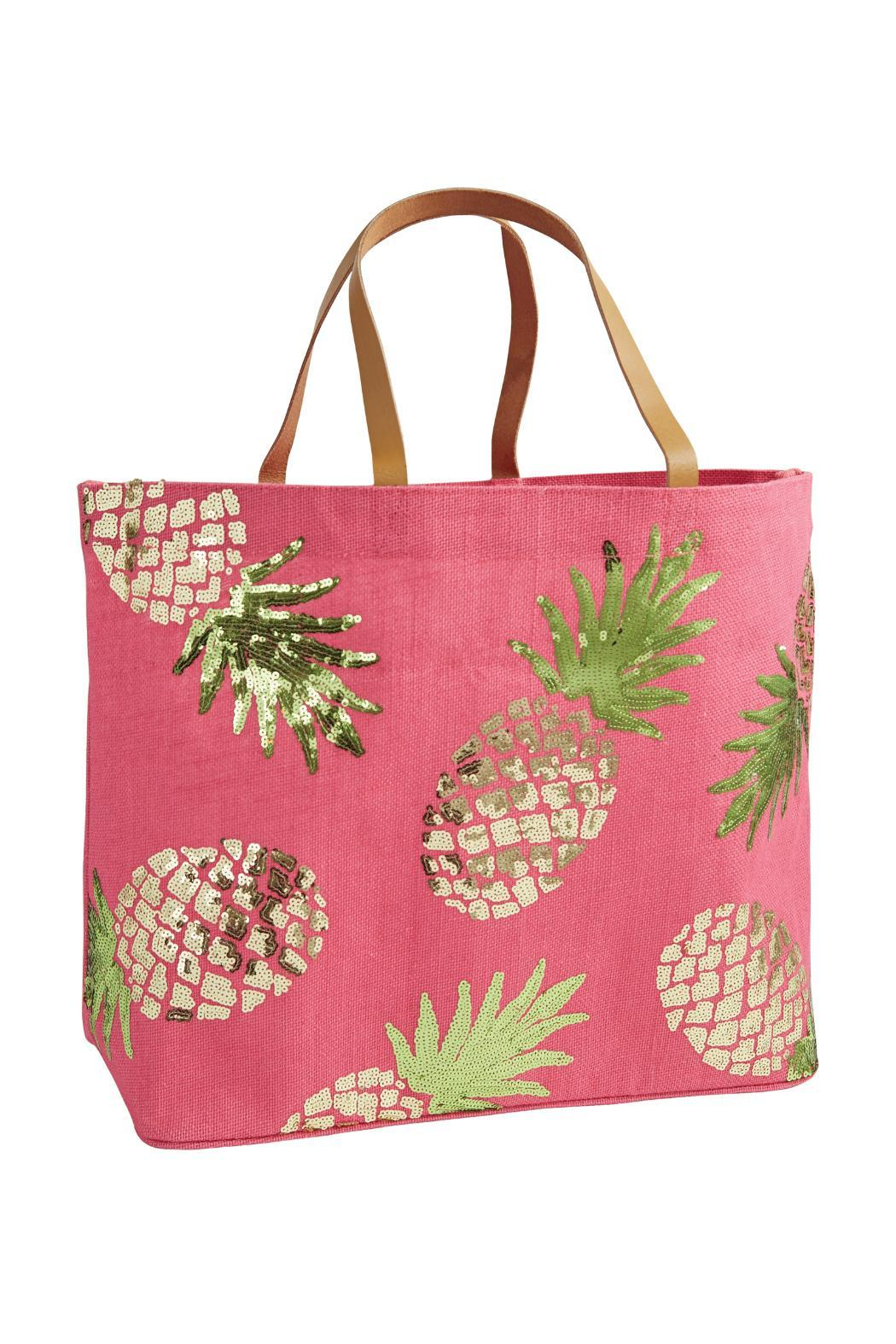 Mud Pie Beach Tote Flamingo - Front Cropped Image