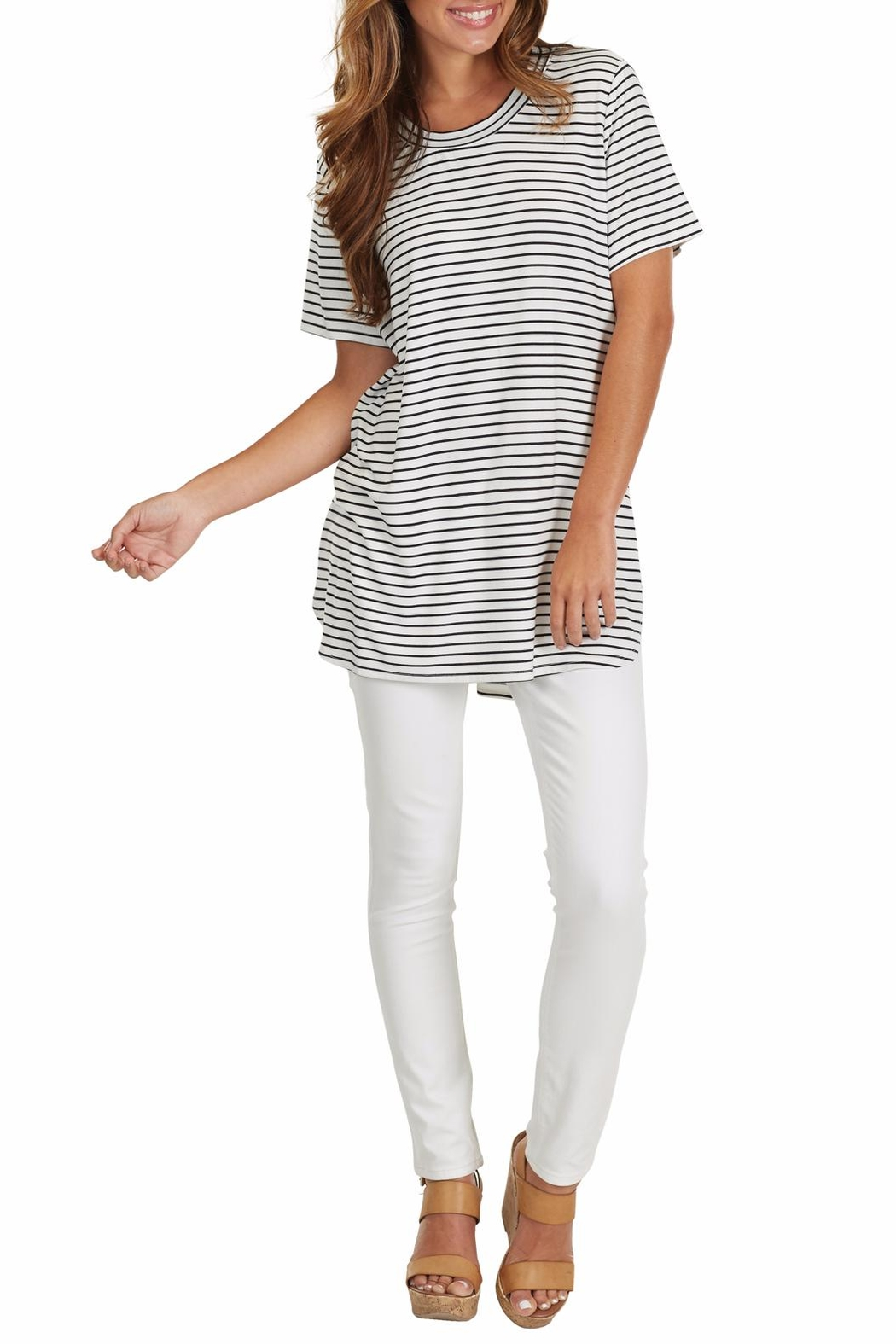 Mud Pie Tucker Jersey Tunic - Side Cropped Image