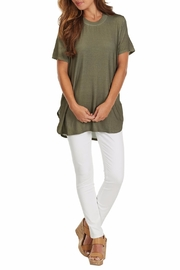 Mud Pie Tucker Jersey Tunic - Front cropped