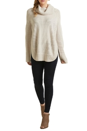 Mud Pie Ivory Cowl Sweater - Front cropped