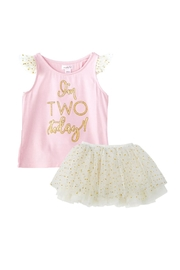 Mud Pie Two Birthday Tutu-Set - Front cropped