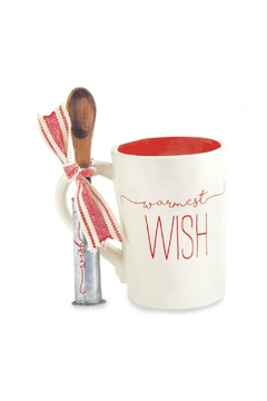 Mud Pie Warmest Wish Mug Set - Alternate List Image