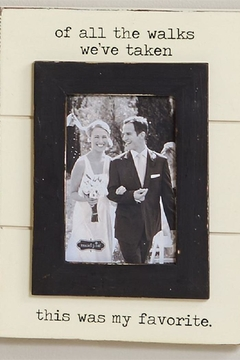 Mud Pie Wedding Walk Frame - Alternate List Image