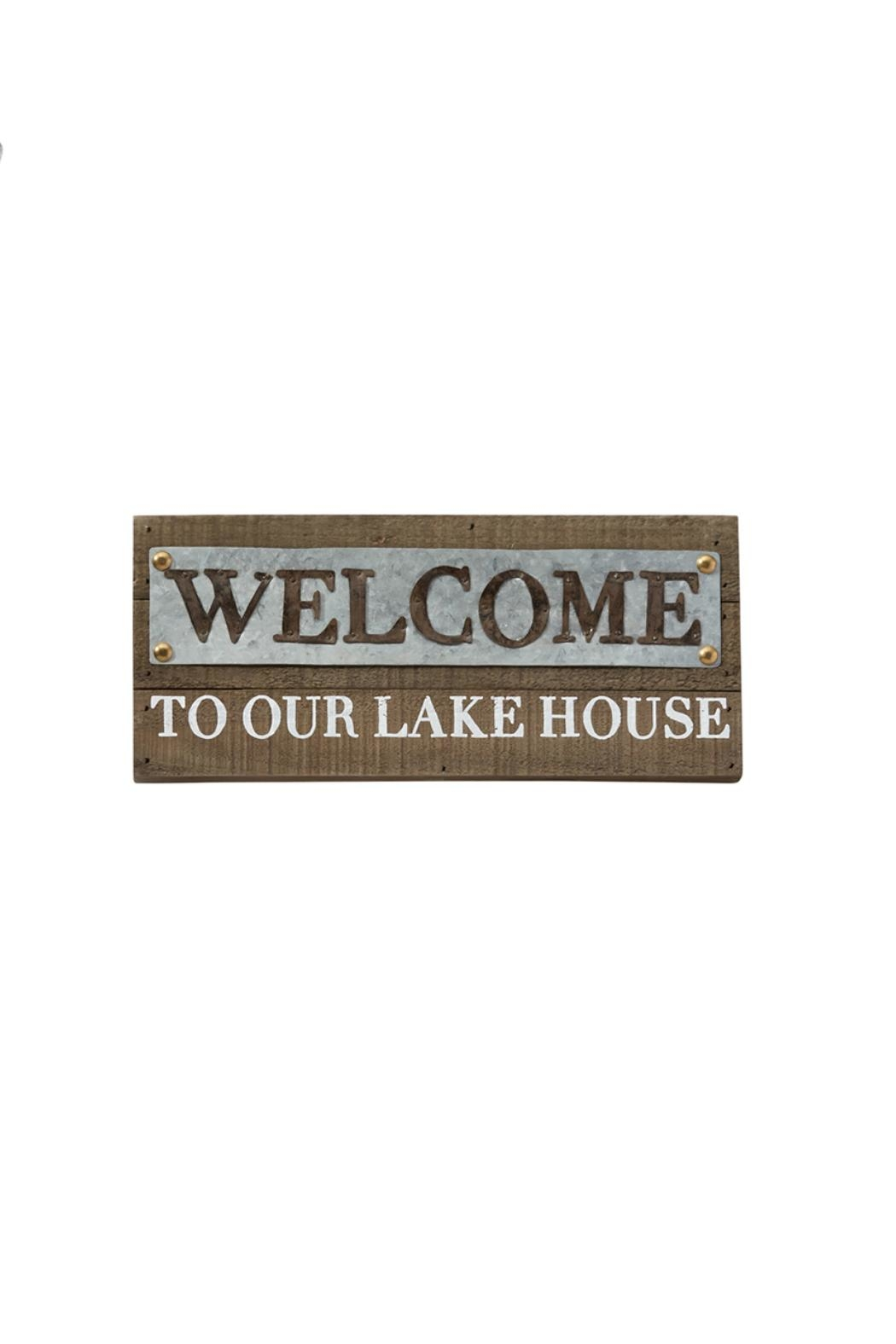 Mud Pie Welcome Lake Sign - Front Cropped Image