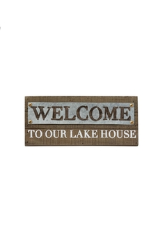 Mud Pie Welcome Lake Sign - Alternate List Image