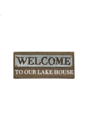 Mud Pie Welcome Lake Sign - Front cropped