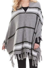 Mud Pie Westin Tassel Poncho - Front full body