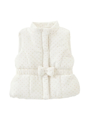 Mud Pie White Puffer Vest - Front cropped