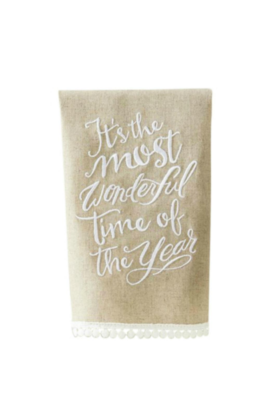 Mud Pie Wonderful Time Towel - Front Cropped Image