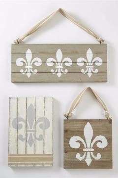 Shoptiques Product: Wooden Fleur De Lis Set