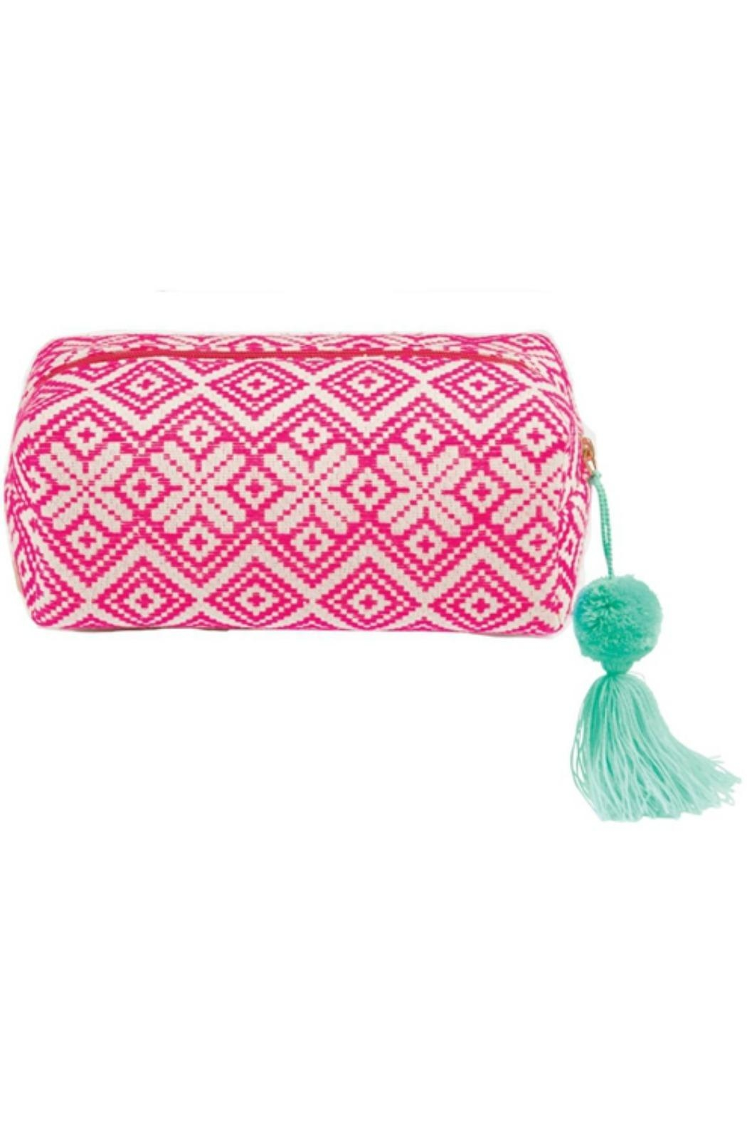 Mud Pie Woven Cosmetic Case - Main Image