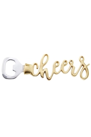 Mud Pie Gift Cheers Bottle Opener - Front cropped