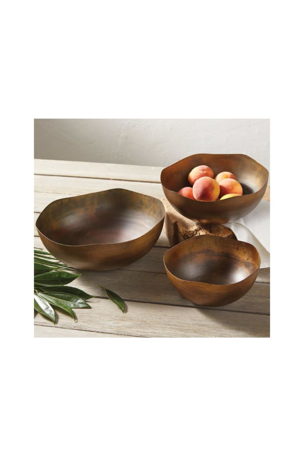 Mud Pie Gift Copper Bowl Set - Front Full Image