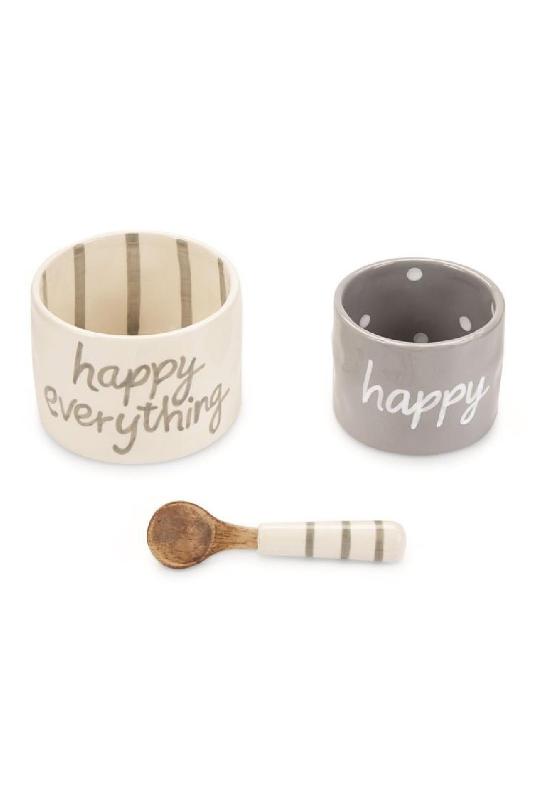 Mud Pie Gift Happy Dip Cup Set - Front Full Image