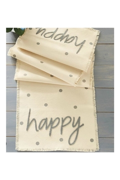 Mud Pie Gift Happy Table Runner - Product List Image