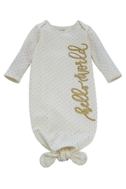 Mud Pie Gift Hello World Sleeper - Front cropped