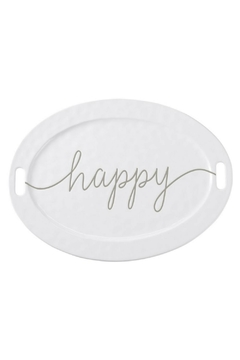 Mud Pie Gift Large Happy Platter - Product List Image
