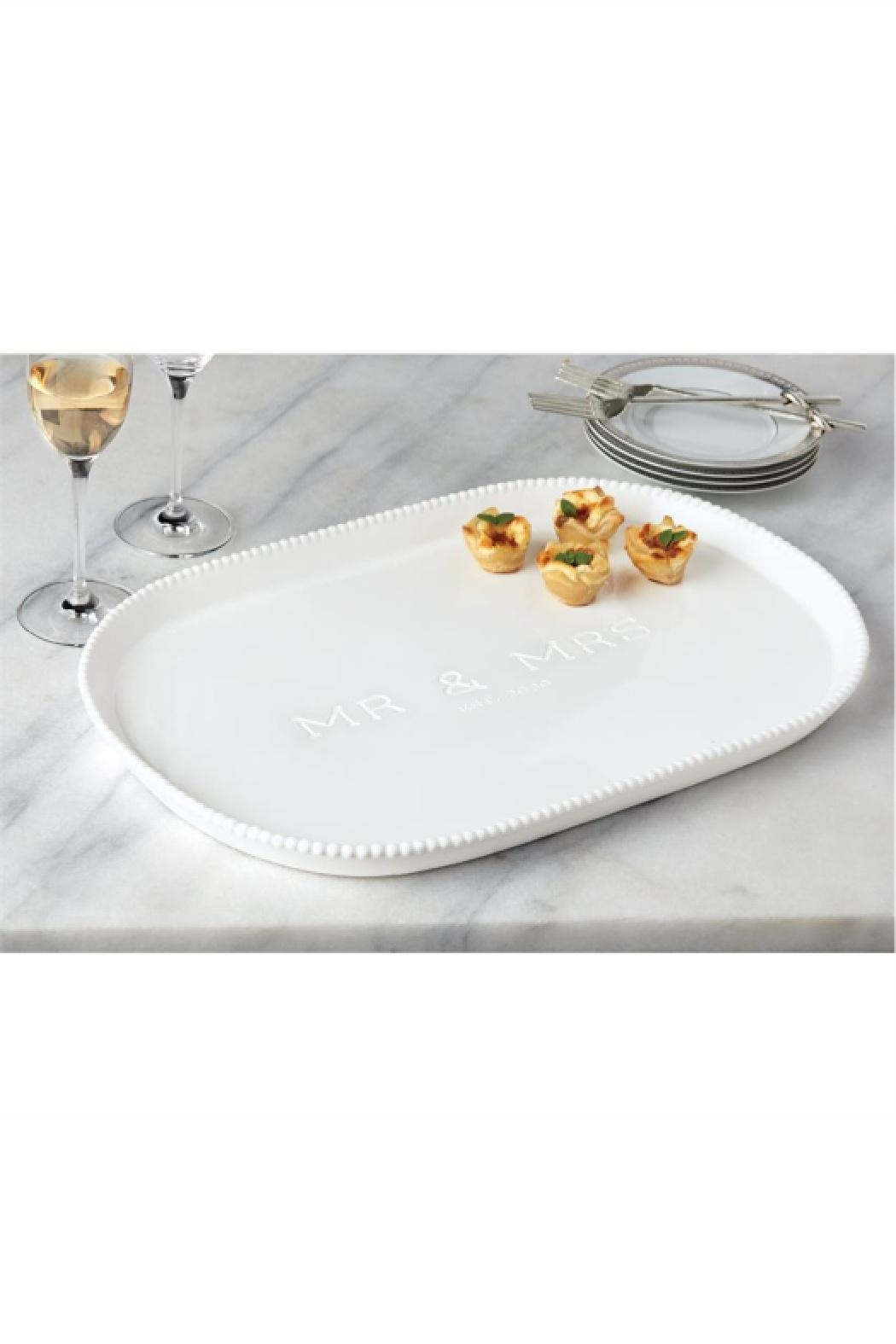 Mud Pie Gift Mr & Mrs 2020 Platter - Front Cropped Image