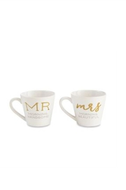 Mud Pie Gift Mr. & Mrs. Mugs - Front cropped
