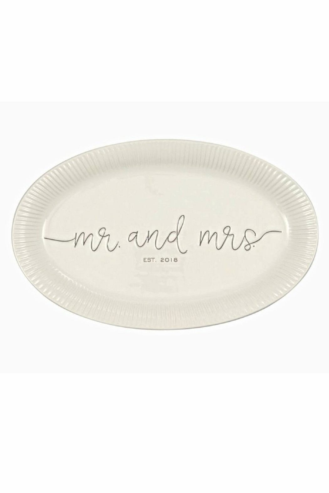 Mud Pie Gift Mr. & Mrs. Platter - Main Image