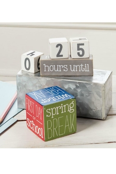 Mud Pie Gift School Break Countdown Blocks - Alternate List Image