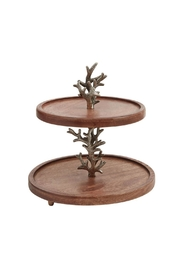 Mud Pie Gift Wood Tiered Server - Product Mini Image
