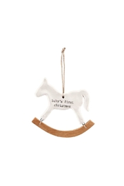 MUDPIE Baby First Christmas Ornament - Front cropped